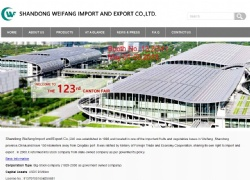 Shandong Weifang Import and Export Co.,Ltd.网站设计案例图片