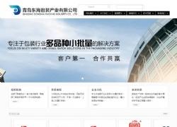青岛东海包装产业有限公司网站设计案例图片